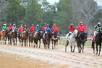 January 24, 2020: The post parade before the running of the Smarty Jones Stakes at Oaklawn Racing Casino Resort in Hot Springs, Arkansas on January 24, 2020. Justin Manning/Eclipse Sportswire/CSM