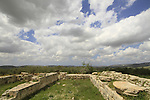 Samaria, Sebastia, the Temple of Augustus in the Roman city Sebaste, built by King Herod in the 2nd century A.D.