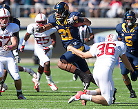 October 20th, 2012: California's Keenan Allen scrambles through Stanford defenders for some more yardage during a game against at Memorial Stadium at Berkeley, Ca   Stanford defeated California 21 - 3