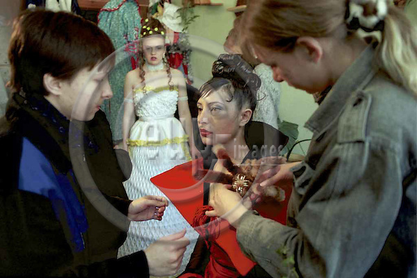 THE MISS SPRING 2003 BEAUTY CONTEST IN A SIBERIAN WOMEN PENITENTIARY No 91/9 IN NOVOSIBIRSK, RUSSIA.