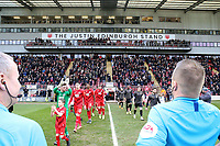 Leyton Orient re-name the West Stand the 'Justin Edinburgh' stand Leyton Orient vs Newport County, Sky Bet EFL League 2 Football at The Breyer Group Stadium on 25th January 2020