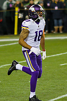 Minnesota Vikings wide receiver Michael Floyd (18) during a National Football League game against the Green Bay Packers on December 23rd, 2017 at Lambeau Field in Green Bay, Wisconsin. Minnesota defeated Green Bay 16-0. (Brad Krause/Krause Sports Photography)