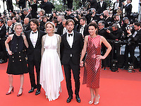 Cannes France May 12 2016 Un Certain Regard Jury Marthe Keller Jessica Hausner Swedish Ruben Ostlund Diego Luna and French Celine Sallette attends the Money monster Premiere at the Palais des Festival During the 69th Annual Cannes Film Festival