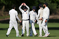 Hutton claim the last Idea Park wicket during Hutton CC vs Gidea Park and Romford CC, Shepherd Neame Essex League Cricket at the Polo Field on 11th May 2019
