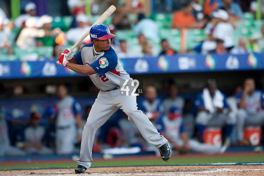 8 March 2009: #2 Ruben Tejada of Panama is seen at bat during the 2009 World Baseball Classic Pool D match at Hiram Bithorn Stadium in San Juan, Puerto Rico. Dominican Republic wins 9-0 over Panama.