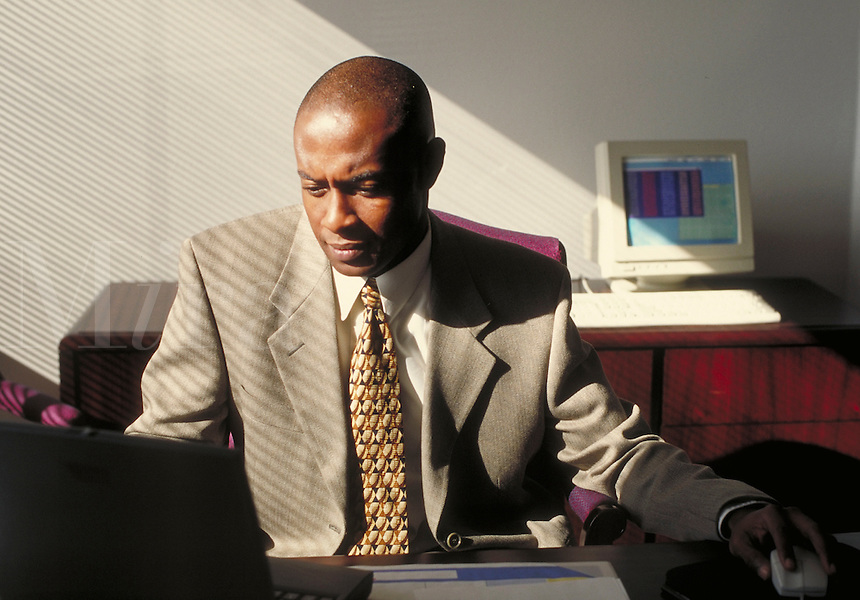 Man conducting business. Professionals. Businessman. African American. Ethnic. Denver Colorado USA.