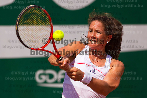 Patti Schnyder (SUI) during the Gaz de France Suez WTA tour Grand Prix international women tennis competition held at Roman Tennis Academy in Budapest, Hungary. Tuesday, 06. July 2010. ATTILA VOLGYI