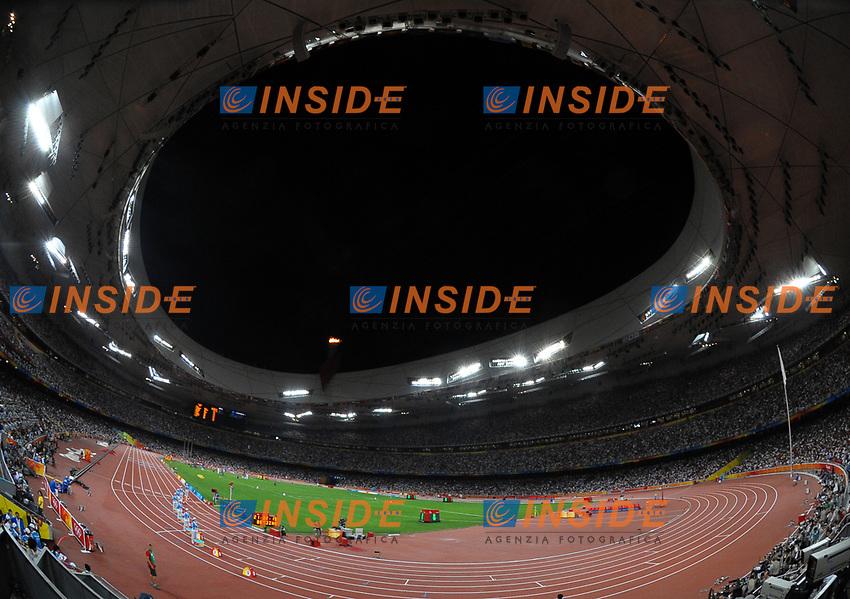 Lo stadio di atletica leggera<br /> National Stadium - Bird Nest<br /> Pechino - Beijing 16/8/2008 Olimpiadi 2008 Olympic Games<br /> Foto Andrea Staccioli Insidefoto