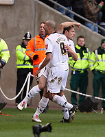 Pictured: Darren Pratley (left) of Swansea City in action<br /> Re: Coca Cola Championship, Swansea City FC v Cardiff City at the Liberty Stadium. Swansea, south Wales, Sunday 30 November 2008.<br /> Picture by D Legakis Photography / Athena Picture Agency, Swansea 07815441513
