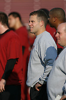 2 February 2007: D.J. Durkin during winter practice workouts at Stanford Stadium in Stanford, CA.