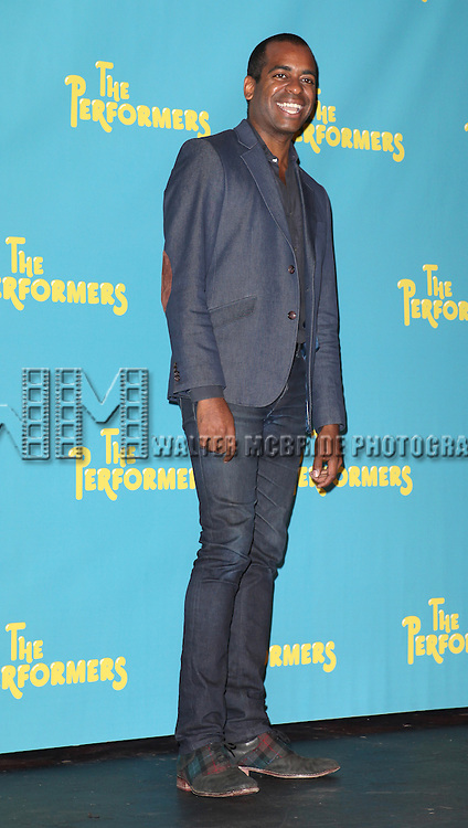 "Actor Daniel Breaker attends press event to introduce the cast and creators of the new Broadway play ""The Performers""at the Hard Rock Cafe on Tuesday, Sept. 25, 2012 in New York."