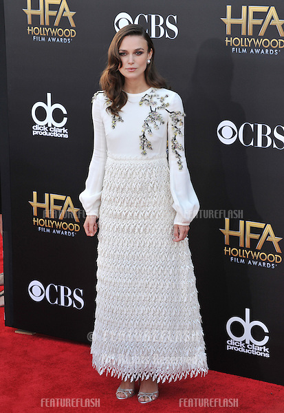 Keira Knightley at the 2014 Hollywood Film Awards at the Hollywood Palladium.<br /> November 14, 2014  Los Angeles, CA<br /> Picture: Paul Smith / Featureflash