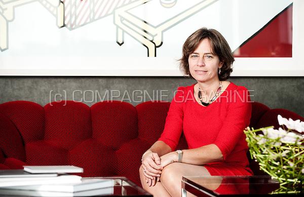 Dominique Leroy, CEO of the Belgian telecommunications company Belgacom / Proximus (Belgium, 29/10/2015)