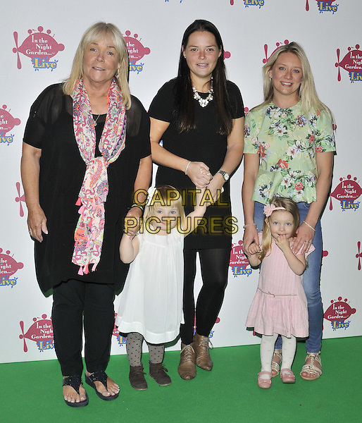 LONDON, ENGLAND - MAY 31: Linda Robson &amp; her granddaughter Lila &amp; guests attend the &quot;In the Night Garden...Live&quot; VIP performance, The O2 Arena, Peninsula Square, on Saturday May 31, 2014 in London, England, UK.<br /> CAP/CAN<br /> &copy;Can Nguyen/Capital Pictures