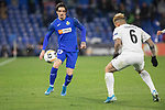 GETAFE, SPAIN - DECEMBER 12: FC Krasnodar's Cristian Ramírez and Getafe CF's  Jason in action during the UEFA Europa League group C match between Getafe CF and FK Krasnodar at Coliseum Alfonso Perez on December 12, 2019 in Getafe, Spain. <br /> (ALTERPHOTOS/David Jar)