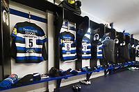 A general view of the Bath Rugby changing rooms. Aviva Premiership match, between Bath Rugby and Saracens on September 9, 2017 at the Recreation Ground in Bath, England. Photo by: Patrick Khachfe / Onside Images