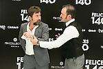 """Antonio de la Torre and Alex Odogherty attend the Presentation of """"Happy 140"""" (Felices 140) Movie at Eurobuilding Hotel, Madrid,  Spain. April 07, 2015.(ALTERPHOTOS/)Carlos Dafonte)"""