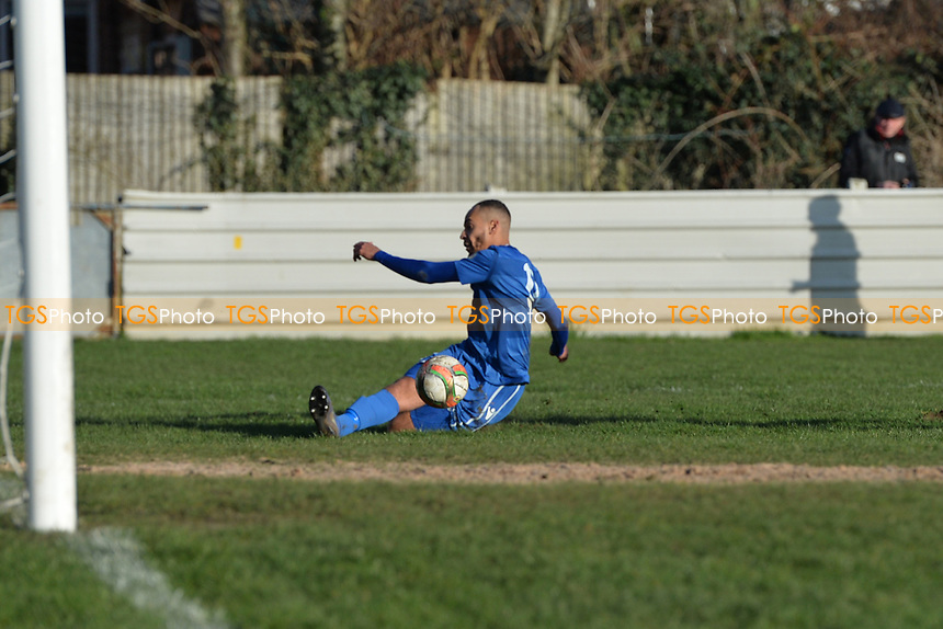 Callum Ibe of Walthamstow could convert during Walthamstow vs Sawbridgeworth Town, Essex Senior League Football at Wadham Lodge Sports Ground on 8th February 2020