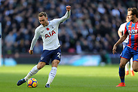 Christian Eriksen of Tottenham Hotspur and Yohan Cabaye of Crystal Palace during Tottenham Hotspur vs Crystal Palace, Premier League Football at Wembley Stadium on 5th November 2017
