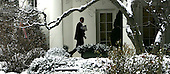 Washington, DC - January 27, 2009 -- United States President Barak Obama walks to  the Oval Office after returning to the White House after meeting with House and Senate Republicans on Tuesday, January 27, 2009. .Credit: Dennis Brack - Pool via CNP