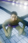 Utsunomiya, January 19 2013 - Portrait of Japanese swimmer Kosuke HAGINO, 18, at his training swimming pool. He claimed the bronze medal in the 400m individual medeley at London Olympics 2012.