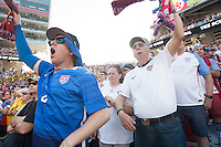 Santa Clara, CA - Friday June 3, 2016: USA fans cheer during the game. USA played Colombia in the opening match of the Copa América Centenario game at Levi's Stadium.