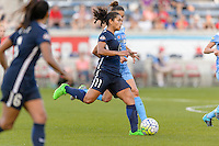 Bridgeview, IL, USA - Sunday, May 29, 2016: Sky Blue FC forward Raquel Rodriguez (11) during a regular season National Women's Soccer League match between the Chicago Red Stars and Sky Blue FC at Toyota Park. The game ended in a 1-1 tie.