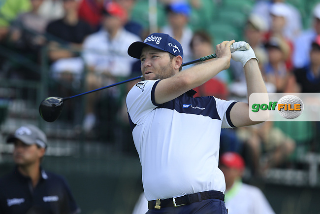 Branden Grace (RSA) tees off the 1st tee to start his match during Saturday's Round 3 of the 117th U.S. Open Championship 2017 held at Erin Hills, Erin, Wisconsin, USA. 17th June 2017.<br /> Picture: Eoin Clarke | Golffile<br /> <br /> <br /> All photos usage must carry mandatory copyright credit (&copy; Golffile | Eoin Clarke)