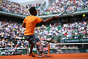 4th June 2017, Roland Garros, Paris, France; French Open tennis championships;  Gael Monfils (fra)