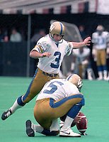 Trevor Kennerd Winnipeg Blue Bombers 1986. Copyright photograph Scott Grant