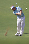 Dubai World Championship Golf. Earth Course,.Jumeirah Golf Estate, Dubai, U.A.E...Ross McGowan playes his second shot onto the 5th green during the third round of the Dubai World Golf championship..Photo: Fran Caffrey/www.golffile.ie...