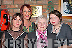 FAMILY AFFAIR: The Guerin ladies enjoying themselves at the Kilcummin GAA social in the Dromhall Hotel, Killarney on Saturday night. .L-r: Maria, Peig, Kathleen and Helenor.   Copyright Kerry's Eye 2008