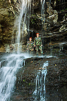 Photography of the Civil Air Patrol(CAP) MER NC 111 Search and Rescue Squadron,training April 9, 2016 at Hanging Rock State Park.<br />