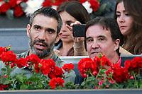 Real Madrid's legend Fernando Sanz (l) and the journalist Jose Ramon de la Morena  during Madrid Open Tennis 2018 match. May 11, 2018.(ALTERPHOTOS/Acero) /NORTEPHOTOMEXICO