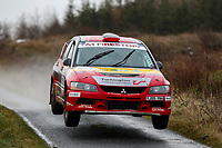 2nd February 2020; Galway, Galway, Ireland; Irish Tarmac Rally Championship, Galway International Rally; William Mavitty and Martin Connelly (Mitsubishi Lancer Evo 9) finish in 10th place overall