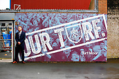 10th September 2017, Turf Moor, Burnley, England; EPL Premier League football, Burnley versus Crystal Palace; A general view outside the stadium with an official guarding the players entrance with the sign Our Turf