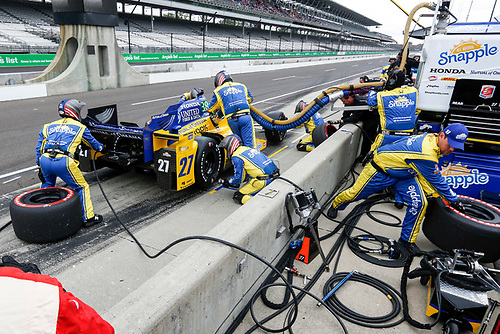 12-14 May, 2016, Indianapolis, Indiana USA<br /> Marco Andretti pit stop <br /> ©2016, Sam Cobb<br /> LAT Photo USA