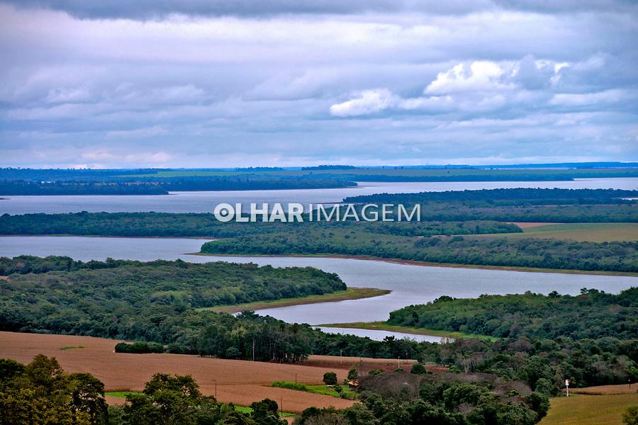 Rio Iguaçu no municipio de Itaipulândia. Parana. 2015. Foto de Olga Leiria.