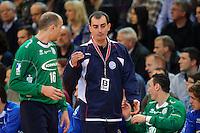 rechts Trainer Emir Kurtagic (VFL) im Gespräch mit links Aljosa Rezar (VFL)