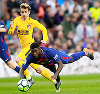 FC Barcelona's Samuel Umtiti (r) and Atletico de Madrid's Antoine Griezmann during La Liga match. March 4,2018. (ALTERPHOTOS/Acero) /NortePhoto.com NORTEPHOTOMEXICO