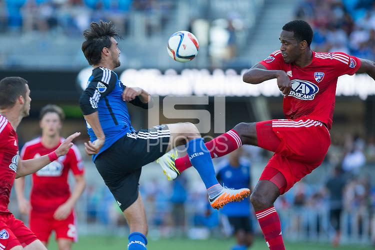 San Jose, California - June 7, 2015: San Jose Earthquakes vs FC Dallas at Avaya Stadium.