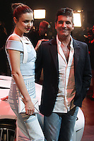 PLAYA VISTA, CA - NOVEMBER 19: Miranda Kerr, Simon Cowell at the 2015 Jaguar F-TYPE Coupe Global Debut held at Raleigh Studios on November 19, 2013 in Playa Vista, California. (Photo by Xavier Collin/Celebrity Monitor)