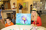 All My Children Stephanie Gatschet paints with Anthony - Guiding Light -  at the Painting Party on May 15, 2011 on Marco Island, Florida - SWSL Soapfest Charity Weekend May 14 & !5, 2011 benefitting several children's charities including the Eimerman Center providing educational & outreach services for children for autism. see www.autismspeaks.org. (Photo by Sue Coflin/Max Photos)