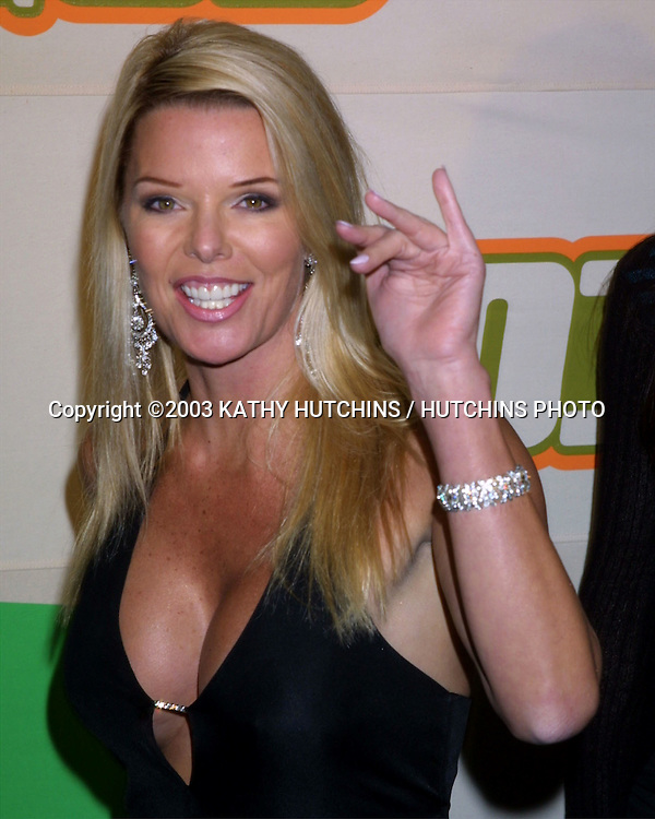"©2003 KATHY HUTCHINS / HUTCHINS PHOTO.VH1 BIG IN 2003 AWARDS SHOW.UNIVERSAL AMPITHEATER.LOS ANGELES, CA.NOVEMBER 20, 2003..CHRISTY FITCHNER.FORMER MISS USA.RUNNER UP IN ""WHO WANTS TO MARRY MY DAD"""