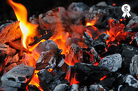 Fire flame and Hot Coals (Licence this image exclusively with Getty: http://www.gettyimages.com/detail/81867340 )