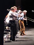 *** EXCLUSIVE Coverage ***.Woody Allen and his New Orleans Jazz Band performing at Placio De Los Congresos y De La Musica Euskalduna in Bilbao, Spain..( with Jerry Zigmont & Simon Wettenhall ).December 29, 2004.© Walter McBride /