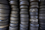 Tyres-Old tyres at a garage Sydney, Australia. Sunday, February 24th  2013. (Photo: Steve Christo).