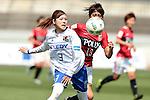 (L to R) <br /> Mio Ohashi (Iga FC Kunoichi), <br /> Akari Shiraki (Reds Ladies), <br /> MAY 7, 2016 - Football / Soccer : <br /> Plenus Nadeshiko League 2016 <br /> between Urawa Reds Ladies 1-0 Iga FC Kunoichi <br /> at Saitama Urawa Komaba Stadium in Saitama, Japan. <br /> (Photo by AFLO SPORT)