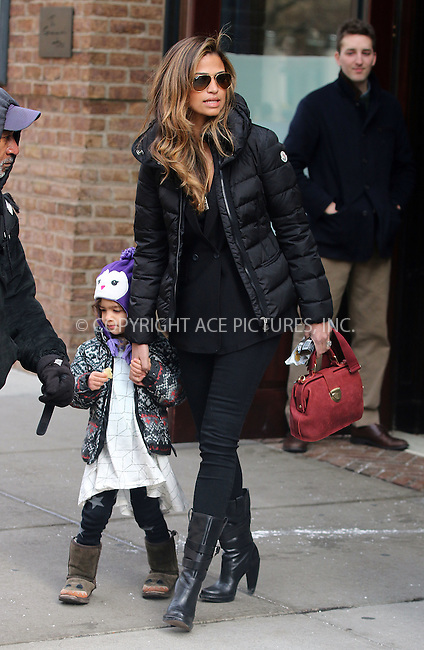 WWW.ACEPIXS.COM<br /> <br /> January 14 2015, New York City<br /> <br /> Model Camila Alves leaves a downtown hotel with her daughter Vida Alves McConaughey on January 14 2015 in New York City<br /> <br /> <br /> By Line: Zelig Shaul/ACE Pictures<br /> <br /> <br /> ACE Pictures, Inc.<br /> tel: 646 769 0430<br /> Email: info@acepixs.com<br /> www.acepixs.com