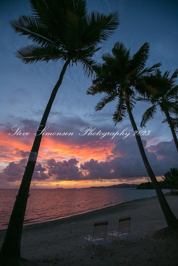 Sunset from Sugar Beach Resort<br /> St. Croix<br /> US Virgin Islands